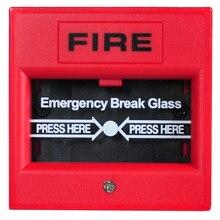 Аварийное разбитое стекло кнопка 2-wire руководство вызова точка пожарной сигнализации Обычные панели аксессуары