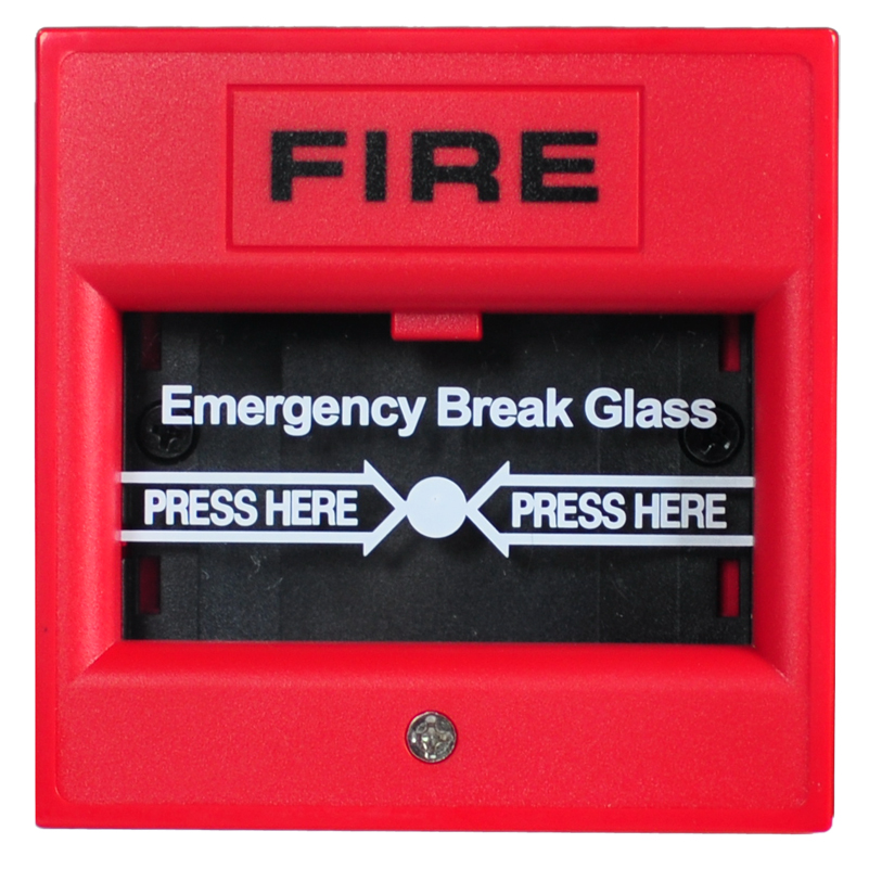 Emergency Break Glass Broken Button  2-wire Manual Call Point  Fire Alarm System Conventional Panel Accessories