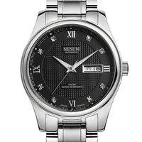Relojes mecánicos automáticos de lujo para hombre de la marca suiza NESUN Diamond  relojes luminosos impermeables de acero inoxidable N9121-6