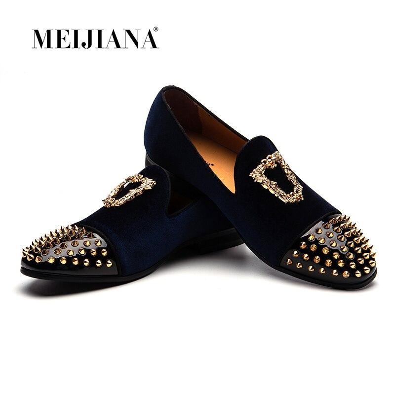 MEIJIANA Nubuck Leather Customized Handmade Male Casual Shoes Slip on Wedding Shoes Luxury Fashion Men Loafers