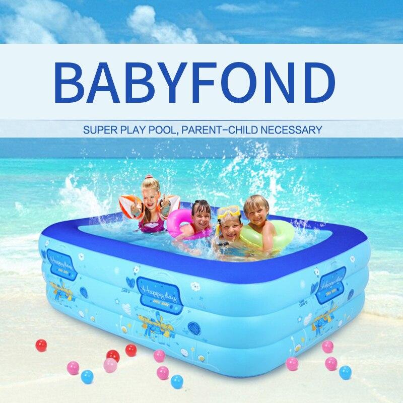Piscine adulte Ultralarge mount 5 tailles piscine enfant carré pliant pataugeoire gonflable