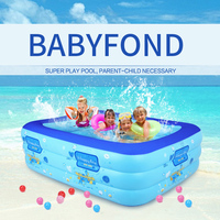 Ultralarge mount adult swimming pool 5 sizes child swimming pool square folding inflatable paddling pool