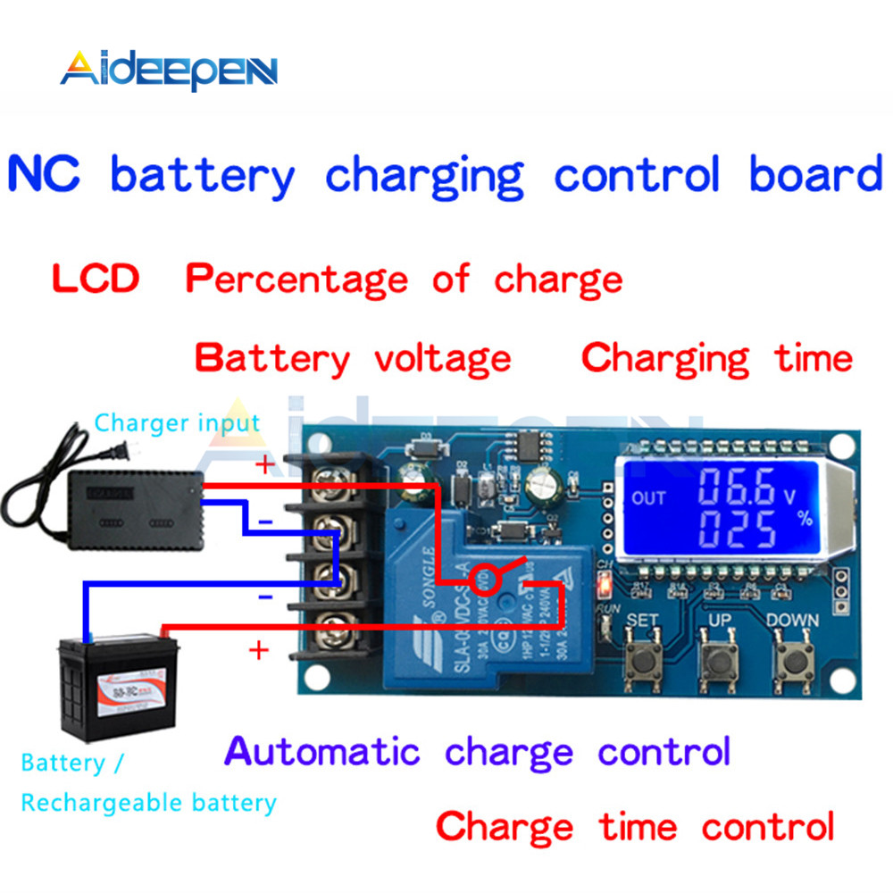 Image 2 - XY L30A NC Battery Charging Control Module Digital Full Power Off Overcharge Protection Switch 6 60 V with LCD Display-in Instrument Parts & Accessories from Tools