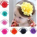 Hot Brand 8Pcs Baby Girls Flower Headbands Photography Props Headband Accessories