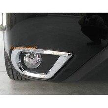 Car body front fog light font b lamp b font frame stick styling ABS Chrome cover