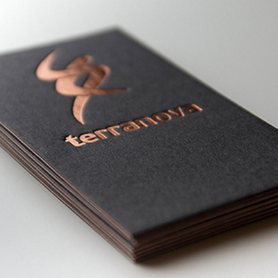 Custom Letterpress Business Card Print High Quality 500gsm Black Paper Gold Silve Copper Foil/stamping Nama Card Printing
