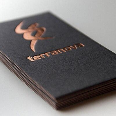custom letterpress business card print h