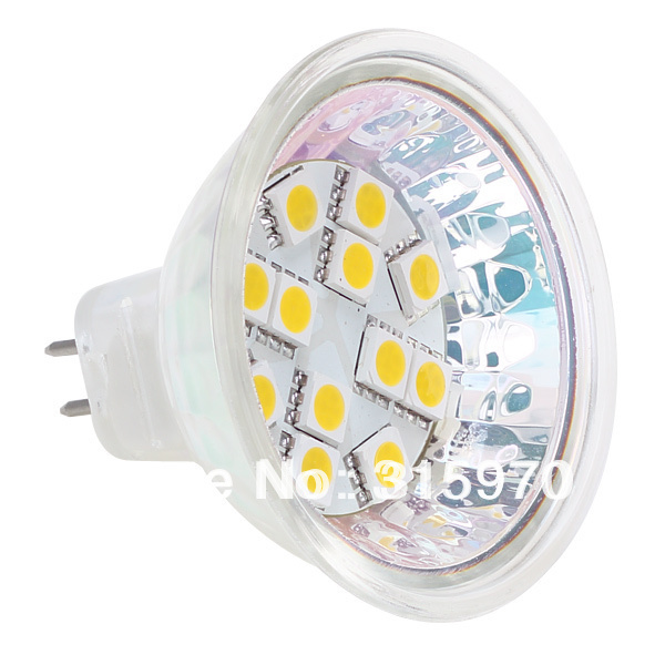 12 Leds MR16  Bulb Led Lamp 24VDC 5050SMD 2.4W 180LM Commercial Engineering Indoor Professional Sailing