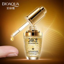 BIOAQUA 24K Gold Face Serum Moisturizer Essence Cream Whitening Day Creams Anti Aging Anti Wrinkle Firming lift Skin Care