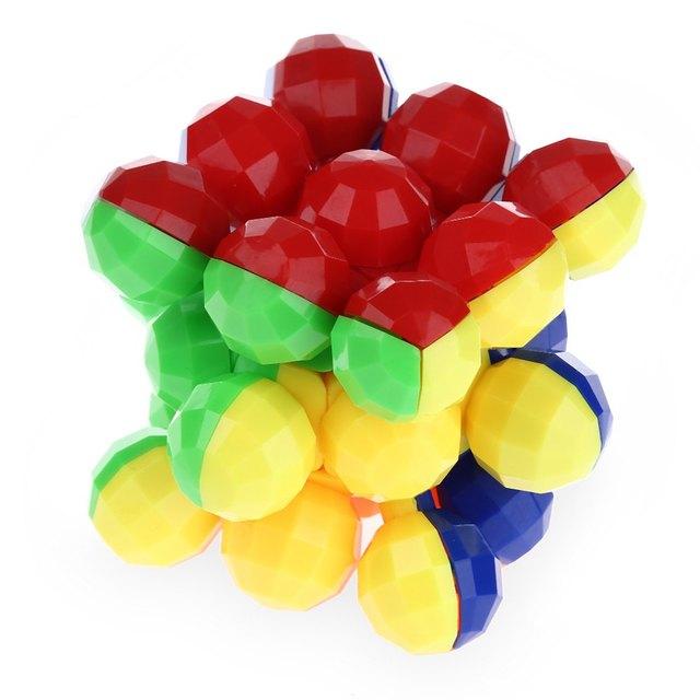 Bolas Estilo Estilo Cubo Mágico 3x3x3 Colorido Fresco Cérebro Teaser de Brinquedo Educativo