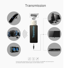 New USB Wireless Bluetooth Stereo Audio Music Transmitter 5V 3.5mm A2DP Music Dongle Adapter For TV MP3 PC Speaker