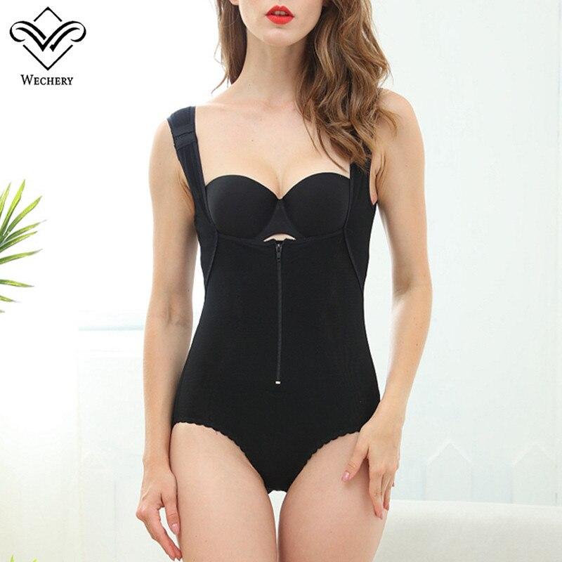 Wechery Women Body Shapers Bodysuits Sexy Cinta Modeladora Waist Trainer Strethcy Butt Lifter Corset Sexy Slimming Underwear TOP