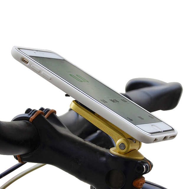 Universal Aluminium Alloy Mobile Phone Motorcycle Bicycle Mount Holder for iPhone 6 6 Plus For Samsung Clip Support Easy Install