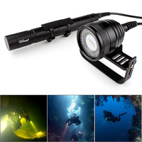 Brinyte DIV10 Waterproof LED Diving Flashlight 3000 Lumens 3x CREE XM_L2 LED Underwater 200m with 5 Mode for Professional Diving
