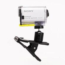 2015 Novo Multi-função Sping Grampo do Grampo com Bola Cabeça de Soquete de montagem para Sony Ação Cam AS30V AS200V HDR-AS100V HDR-AZ1 X1000V