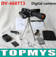 Free shipping New Brand DV-668TT3 16.0 Mega pixels, 1/2.7″ CMOS sensor digital camera with telescope lens+4GB SD Card