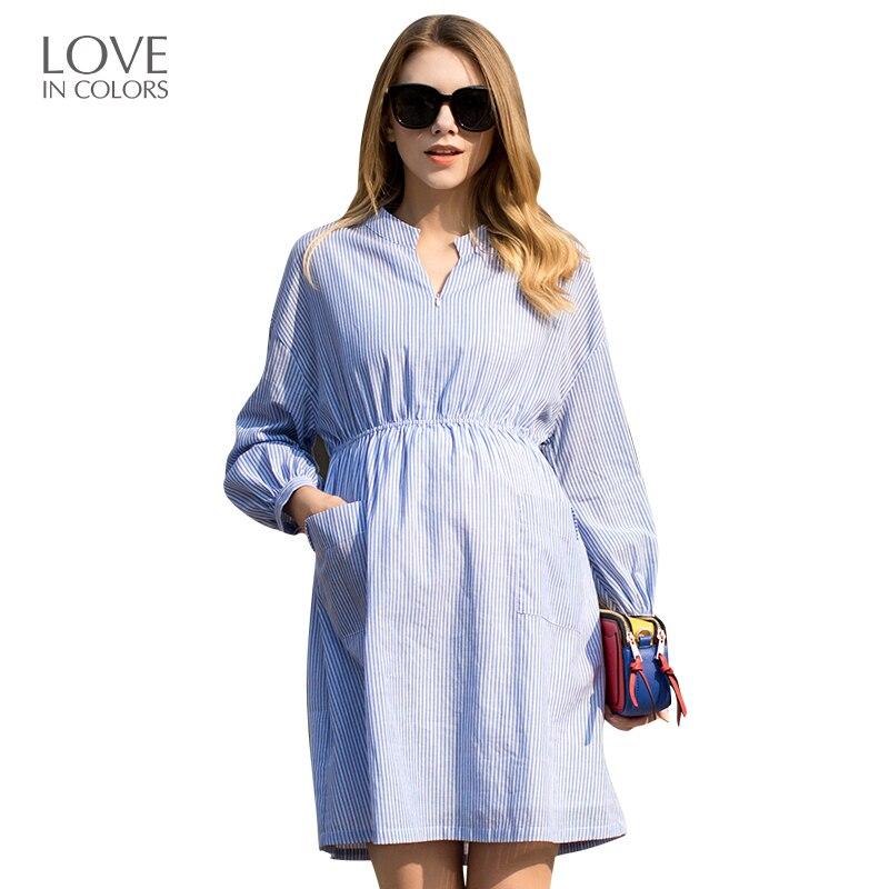 Loveincolors Maternity Dress Pure Color Outdoor All Cotton Detachable Nursing Mouth Pregnant Clothes