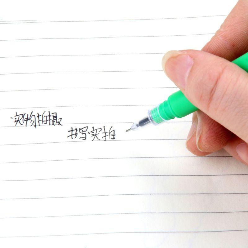 Image 2 - 100 шт корейские Творческие маленькие свежие в форме кактуса милые нейтральные ручки для студентов с черной ручкой для воды Kawaii школьные принадлежности канцелярские принадлежности-in Гелевые ручки from Офисные и школьные принадлежности