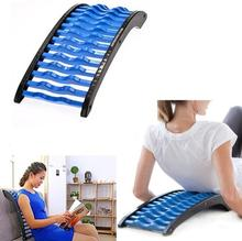 New Back Massager Stretcher Spine Correction Vertebra Relieve Waist Pain Lumbar Spine Relaxator Massage  Therapy Cushion magic rolling wheel bar device back lumbar vertebra leg healthcare main and collateral channels special package postal