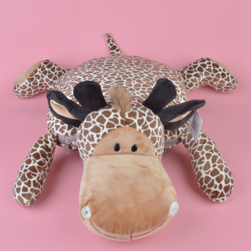Multi-function Plush Cushion, Forest Giraffe Plush Toy Blanket Baby Kids Gift Free Shipping forest lion stuffed plush toy pencil case kids child coin bag gift free shipping