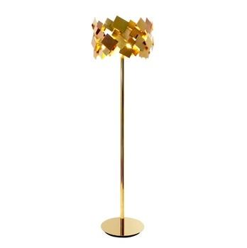 160 см высотой 4-Light Металлическая Напольная Лампа/Атлас Золотая отделка/