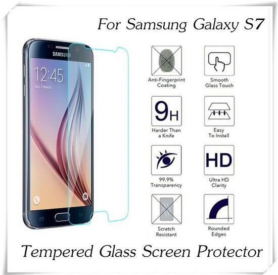 imágenes para 100 unids 2.5D 0.3mm de Vidrio Templado Para Samsung Galaxy Protector de Pantalla Anti-Añicos S7 Película Protectora A Prueba de Explosiones