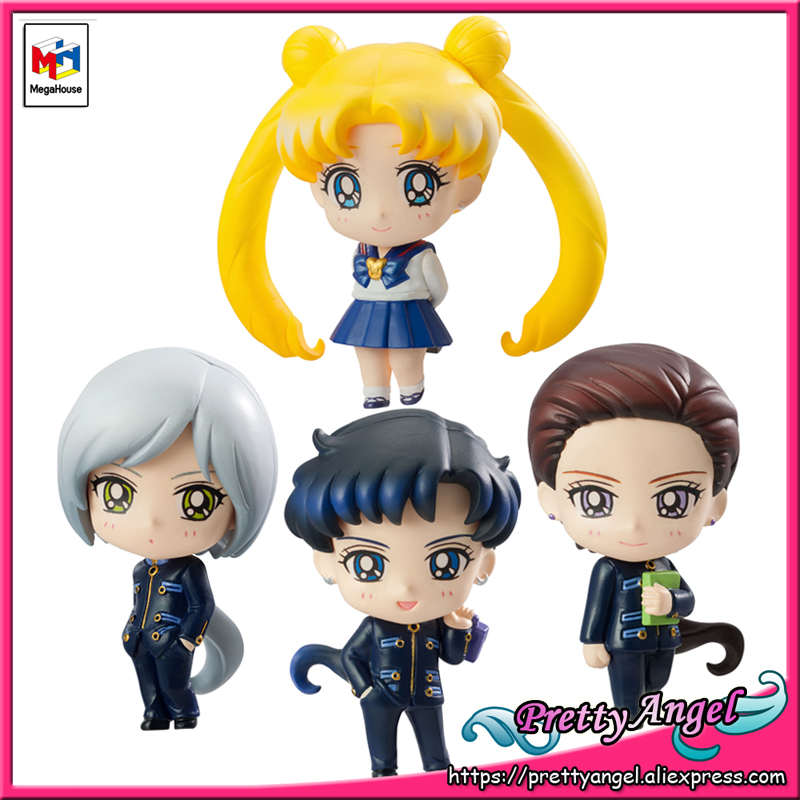 купить PrettyAngel - Genuine Megahouse Petit-Chara! Pretty Guardian Sailor Moon Three Lights Usagi Figure Set of 4 pcs по цене 6984.7 рублей