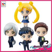 PrettyAngel Genuine Megahouse Petit Chara! Pretty Guardian Sailor Moon Three Lights Usagi Figure Set of 4 pcs