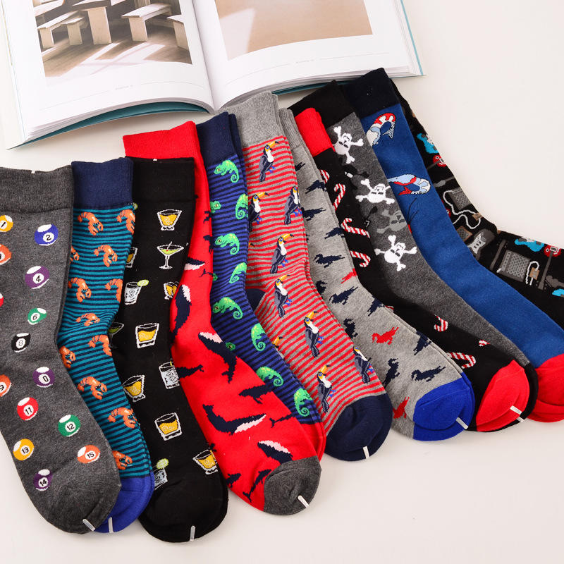 New Brand Quality Mens Happy Socks Combed Cotton Calcetines Hombre Big Size Funny Wedding Business Women Crew Sox Gifts Novelty