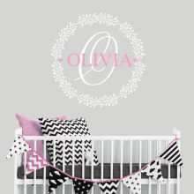 Wall Sticker Personalized Girl Name Vinyl Decal Kids Children Nursery Room Decor Custom Art AY0255