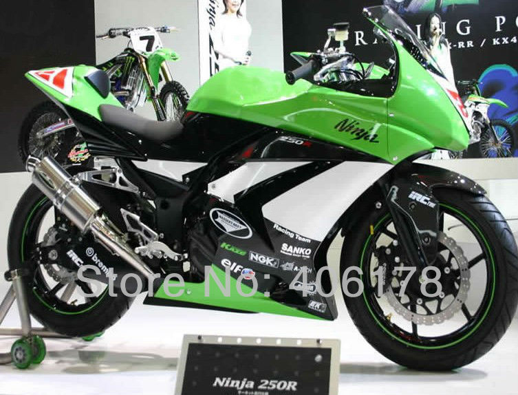 Hot Sales,Ninja 250R Body Kit Fairing For Kawasaki ZX250R 2008-2012 ELF Sport Aftermarket Motorcycle Fairing (Injection molding)