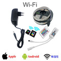 Wifi 5M 10M 15M RGB LED Strip 2835 RGB Led Tape DC 12V  Flexible String Light + WiFI Controller + adapter with Wifi controller