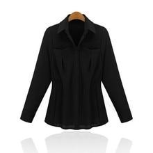 Hot New Casual Loose all-match Chiffon Shirt Long Batwing Sleeve Blouse Tops Female Turn-down Collar Blouse Women