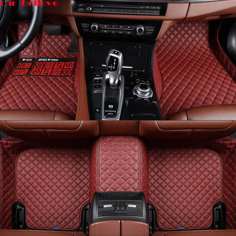 Car Believe Auto car floor Foot mat For audi a3 sportback audi a5 sportback a4 b8 avant tt car accessories waterproof carpet