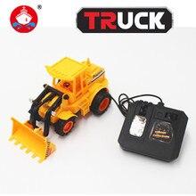 Camiones rc toys simulación niños vehículo de la ingeniería excavadora de control remoto de $ number canales rc camiones coche de regalo de navidad 6807