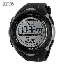 40f9a83f644d XFCS 2017 impermeable relojes digitales para los hombres reloj running  hombre mens digitales digitais choque reloj