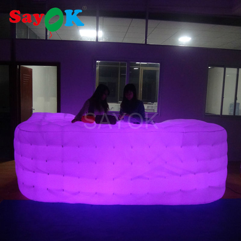 LED Party decoration giant Led Light Inflatable Bar/Inflatable Bar Counter/Inflatable led bar tent for hot sale