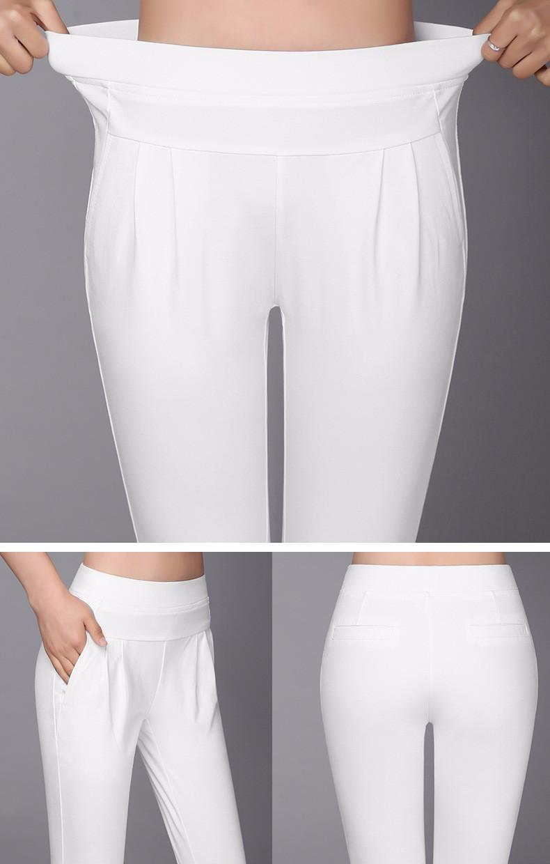 Plus Size S-4XL Harem Pants Women Solid Elastic Calf Length Summer Pants Casual High Waist Sport Pants Capris Trousers 2016 A313 a