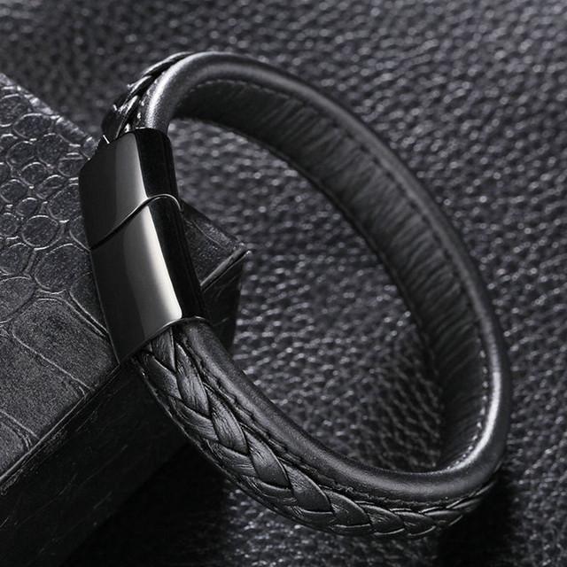 Trendy Genuine Leather Bracelet for Men