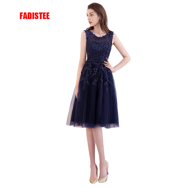 FADISTEE Elegant Long Bridesmaid Dresses Appliques Lace beading short tulle style  Wedding Party Dress Under 50  31c97c62e344