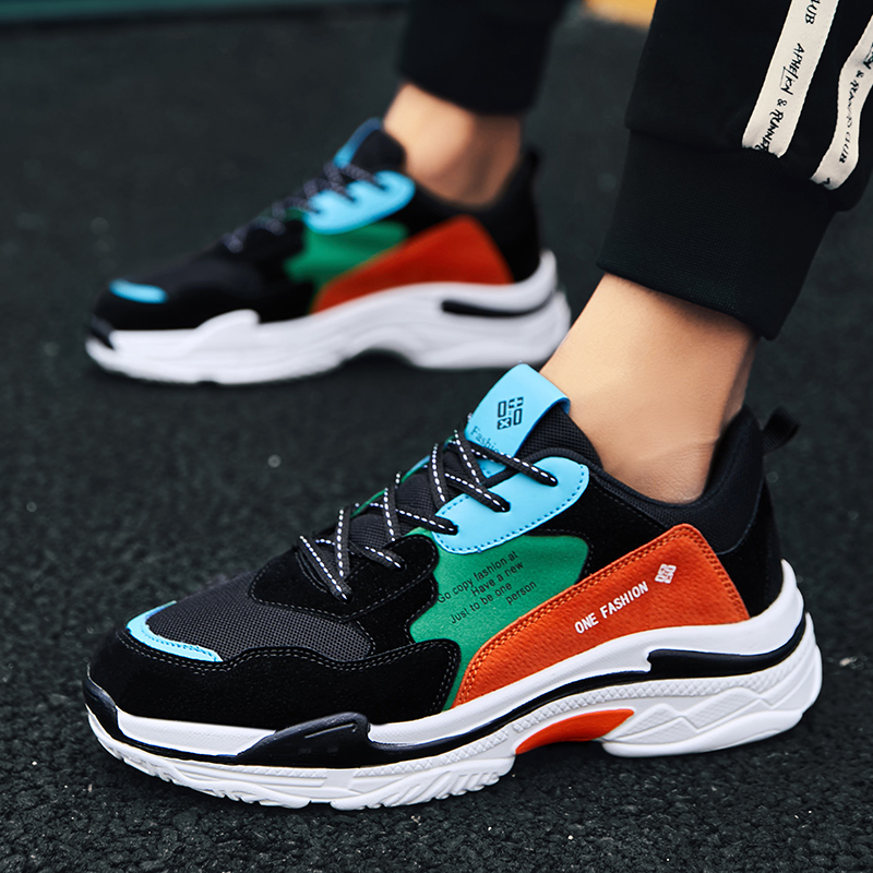 2019 new youth trend mens shoes wild sports casual Korean spring tide