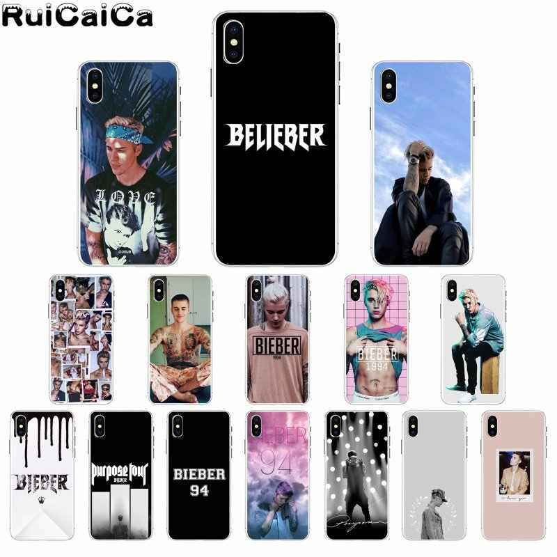 RuiCaiCa Justin Bieber TPU Zachte Siliconen Phone Case Cover voor Apple iPhone 8 7 6 6S Plus X XS MAX 5 5S SE XR Cover