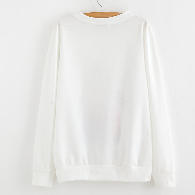 2015 harajuku Womens ethnic Pullovers sweatshirt tops female cute print  Cotton white hoodie sweatshirt outwear free shipping-in Hoodies    Sweatshirts from ... e8e1cafa8b