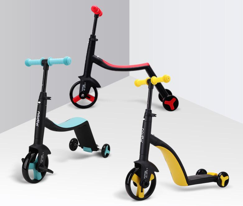 2019 New Children's Scooter, Balance Bicycle, Tricycle, Three-in-one Baby Stroller