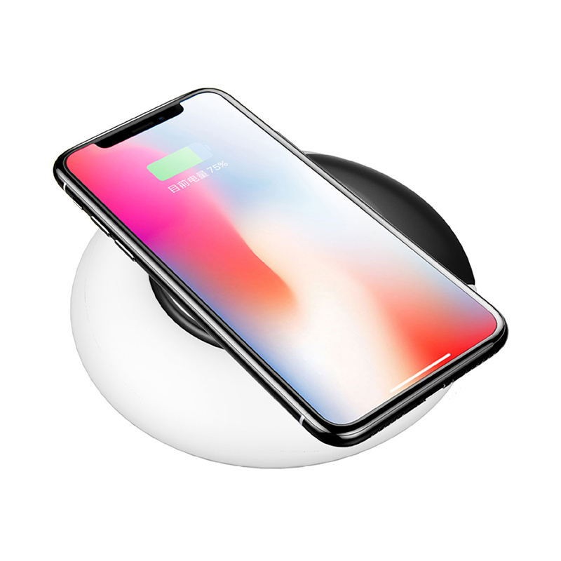 CHUNFA Qi Wireless Charger for Samung S8 Plus S9 S7 10W Fast Qi Charger Wireless Charging for iPhone X 8 8 Plus with Table Lamp