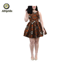 2018~2019 African dress dashiki privte costom  pure cotton bazin riche ankara print bove knee African fabric  AFRIPRIDE S1825004