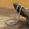 S925 silver style customized extension manual 4m slub  Necklace