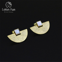 2015 New Very Luxury And Simple Design Earring Natural Stone Shell Genuine 925 Sterling Silver Handmade