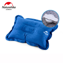 Naturehike Suede Ultralight Camping Travel Pillow Sleep Inflatable Portable foldable Folded Air Cushion