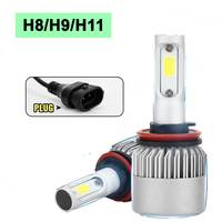 2pcs Lot H11 60W 6000LM 6000K LED Car Headlights Conversion Kit H8 H9 H11 Fog Lamp